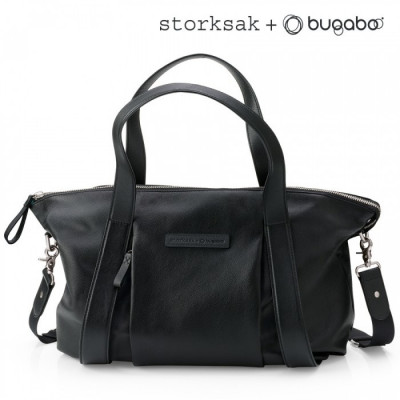 Сумка для мамы Changing Bag Storksak leather black