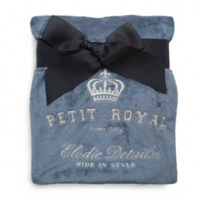 Детский плед Pearl Velvet blanket petit royal blue 103691